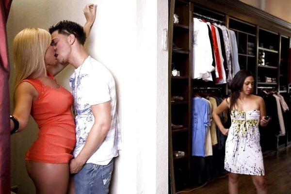 SEks op spannende plaatsen, in het kleedhokje in de winkel